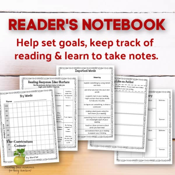 Reader's Notebook for Students