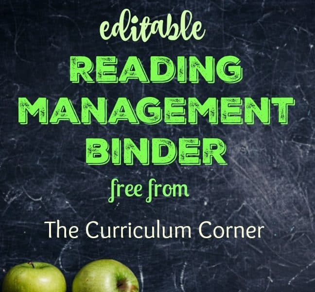 Editable Reading Management Binder