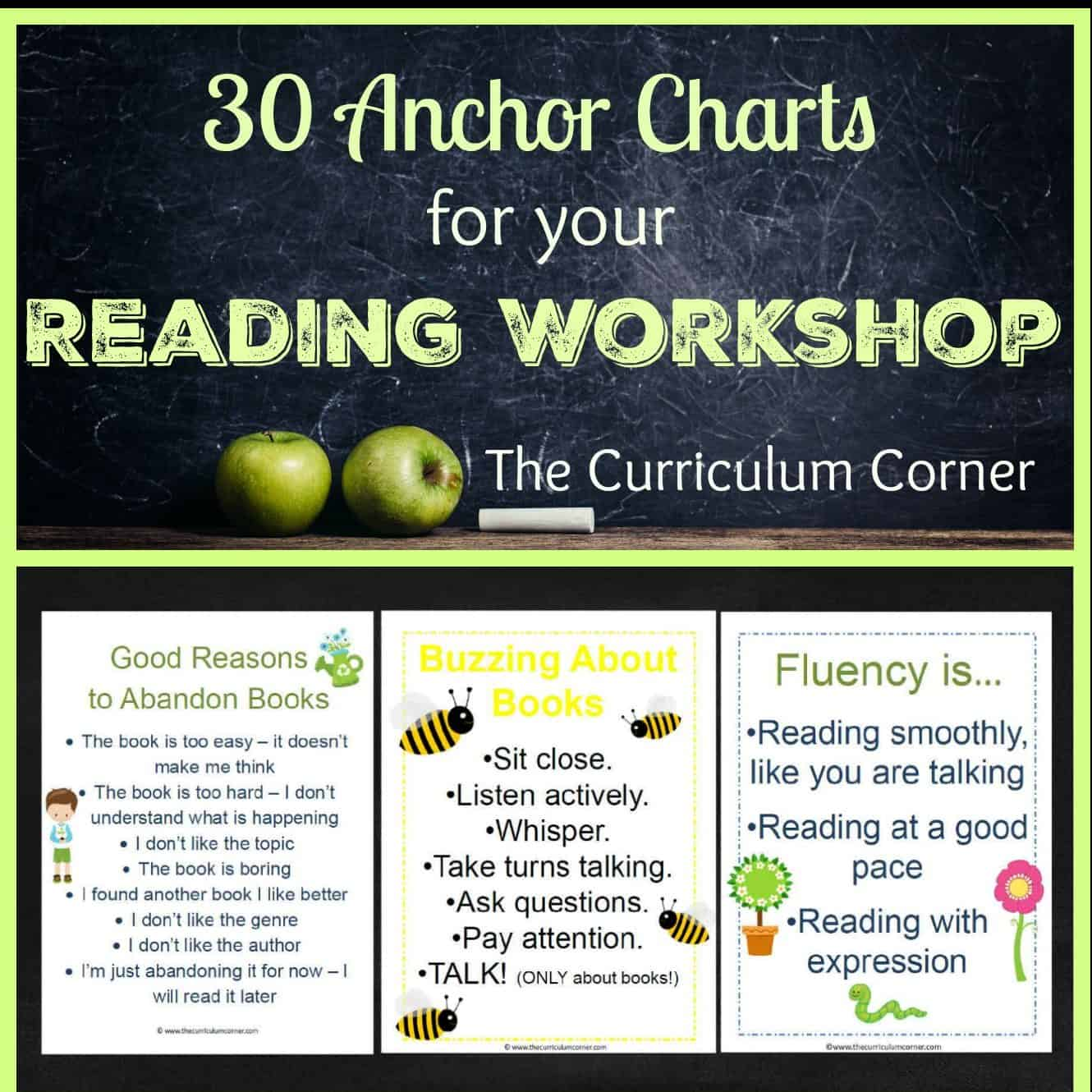 Reading Anchor Charts Collection