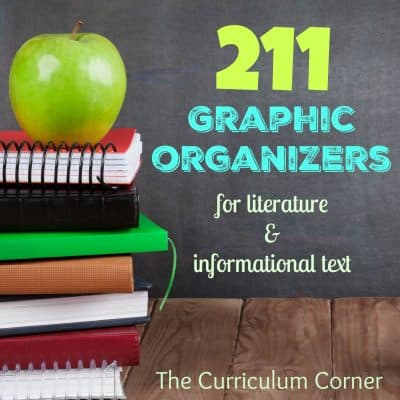 211 FREE Graphic Organizers for Literature & Informational Text from The Curriculum Corner