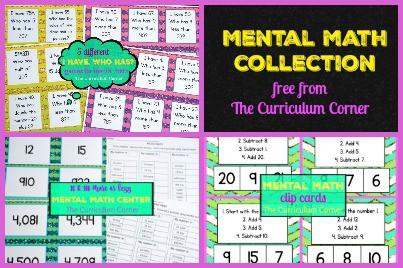 Ideas for Mental Math