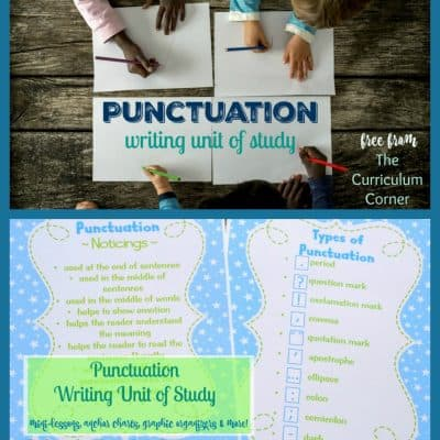 Punctuation Writing Unit of Study