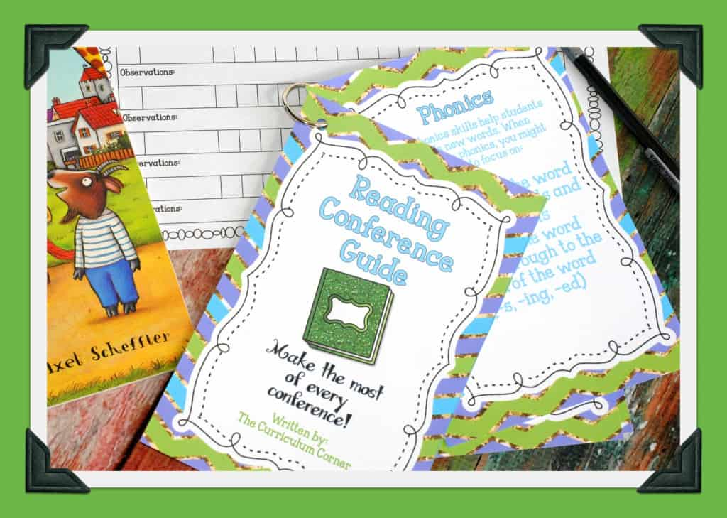 FREEBIE Reading Conference Guide for teachers new to conducting reading conferences - The Curriculum Corner