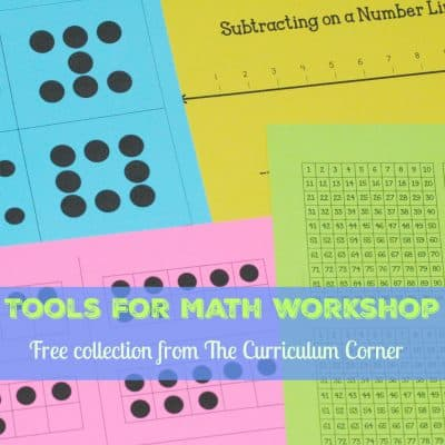 FREEBIE lots of tools for your math workshop from The Curriculum Corner