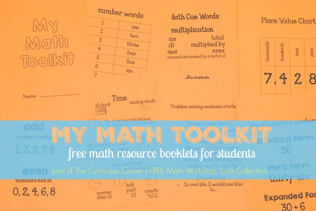 FREEBIE Make your own student resource booklets! for your math workshop from The Curriculum Corner