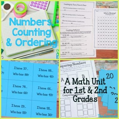 FREEBIE! Numbers, Counting & Ordering Math Unit of Study for 1st & 2nd Grades FREE from The Curriculum Corner