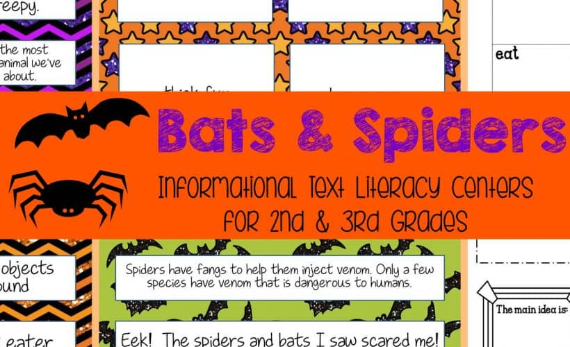FREEBIE Bats & Spiders Informational Text LIteracy Centers FREE from The Curriculum Corner
