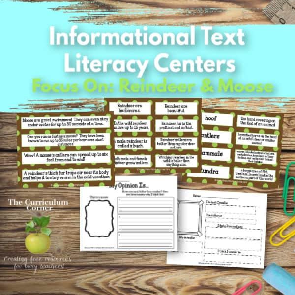 Reindeer & Moose Literacy Centers