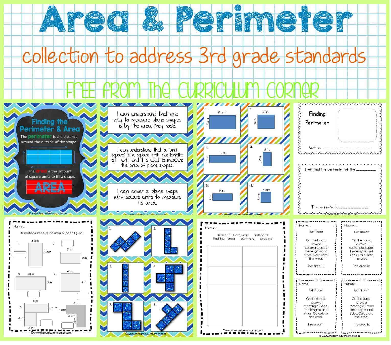 Area & Perimeter - The Curriculum Corner 123