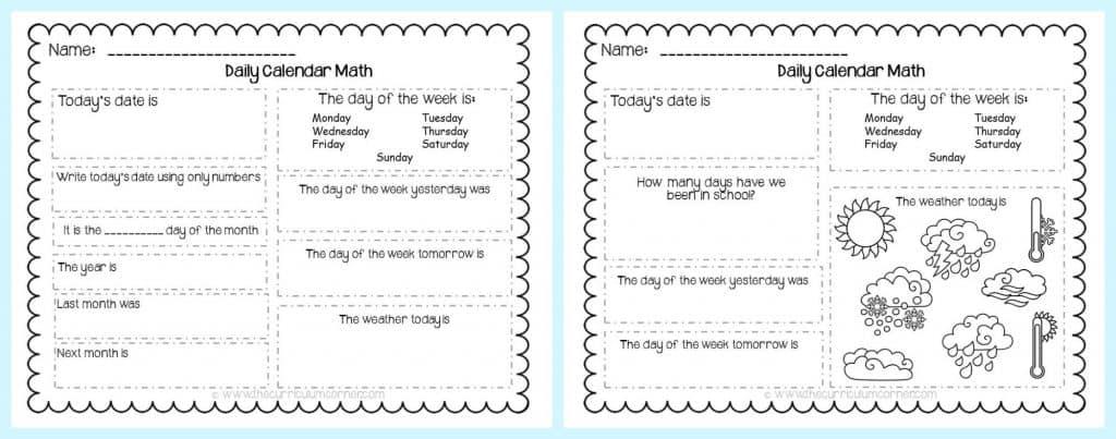 FREE Calendar Math Activities from The Curriculum Corner   calendar math journal   problem solving   anchor charts & more