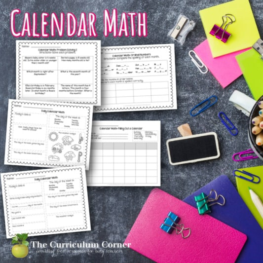 Calendar Math Collection