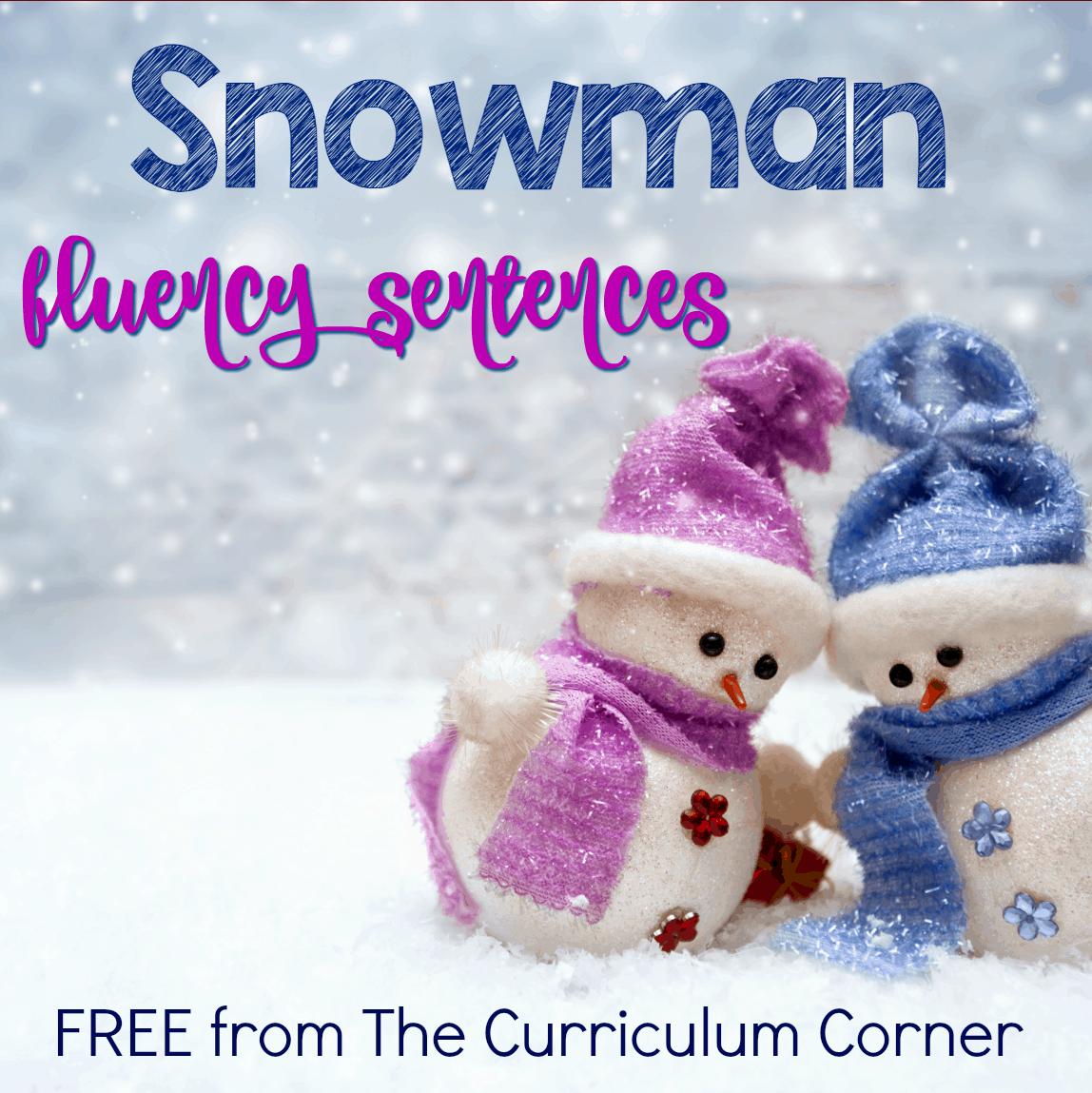 Snowman Fluency Sentences