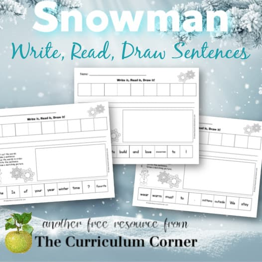 Snowman Read, Write & Draw It!