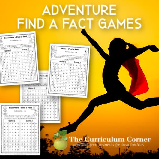 Adventure Find a Fact Addition Games