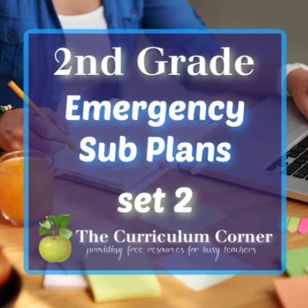2nd Grade Sub Plans – Set 2