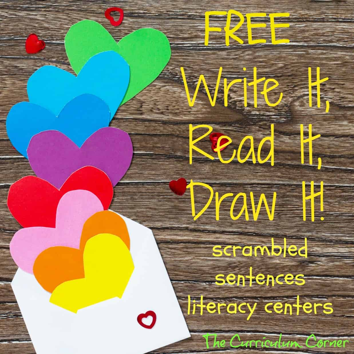Valentine's Day Read, Write & Draw It!