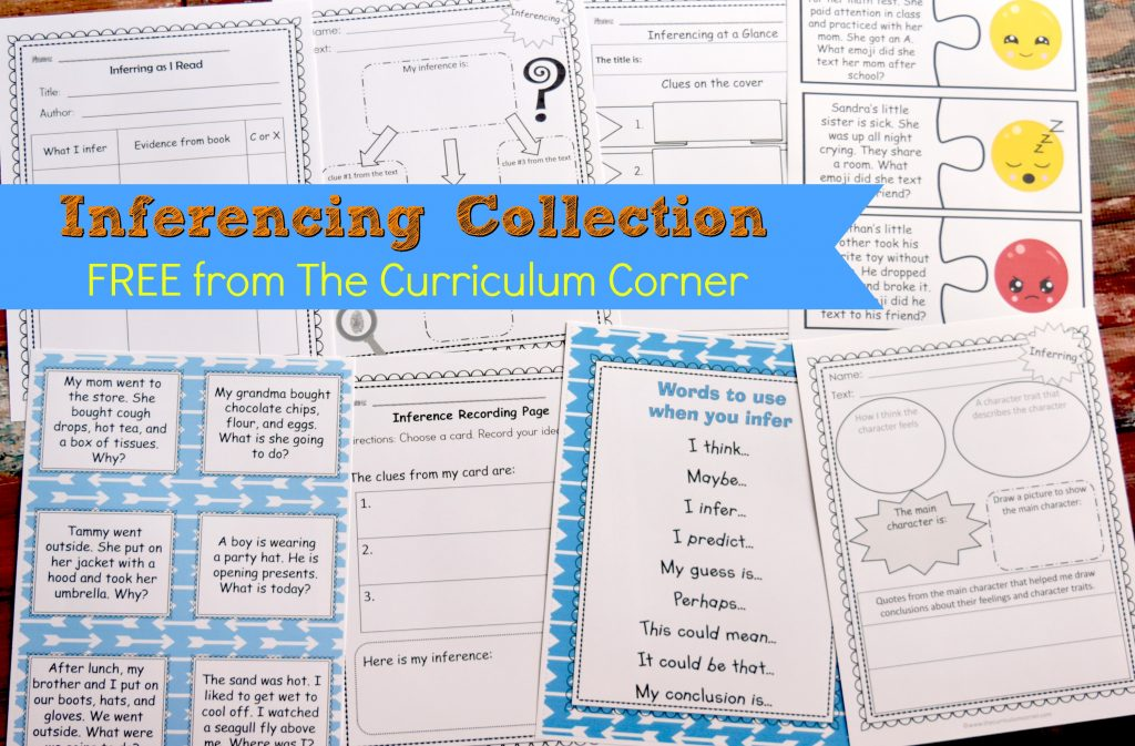 This collection of inferencing activitiesis meant to help your students understand what inferences are and how to make them!