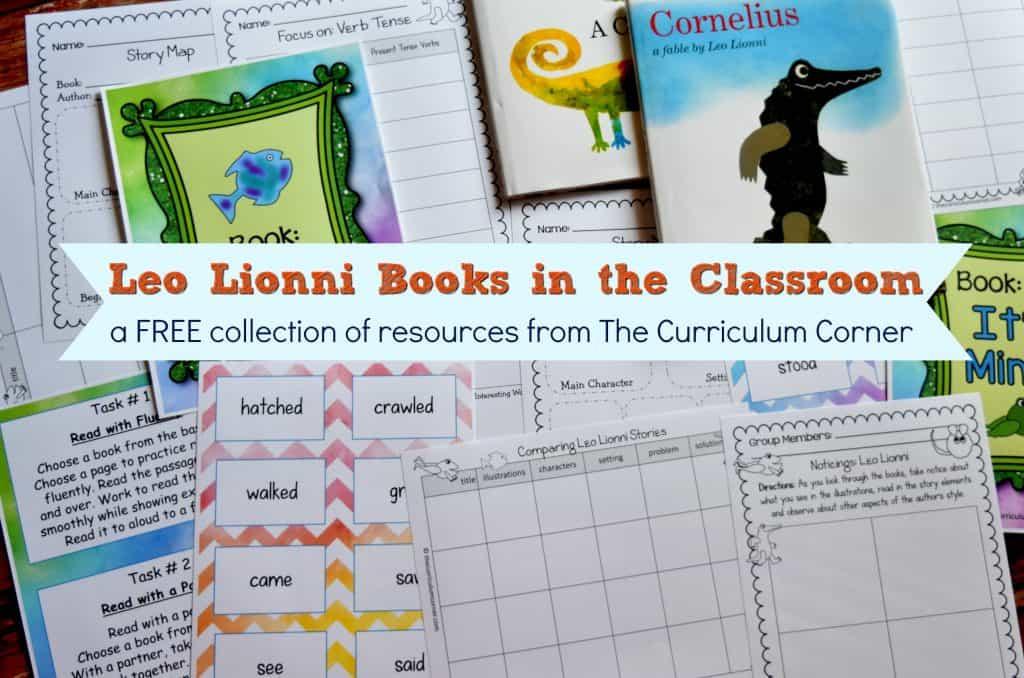 FREE Leo Lionni Resources from The Curriculum Corner FREEBIE