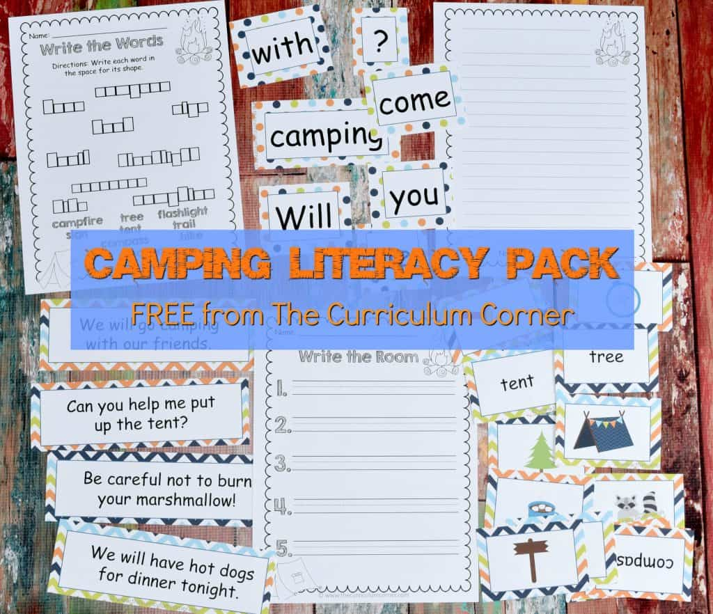 Camping Classroom Theme   FREE Camping Literacy Pack from The Curriculum Corner