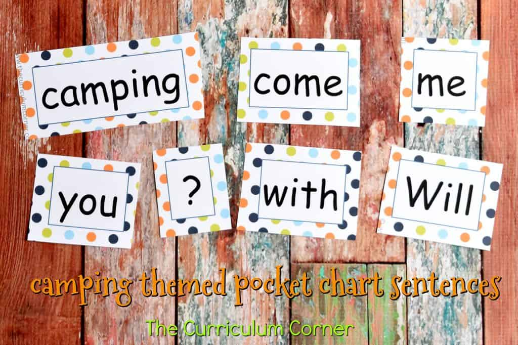 Camping Classroom Theme   FREE Camping Literacy Pack from The Curriculum Corner 2