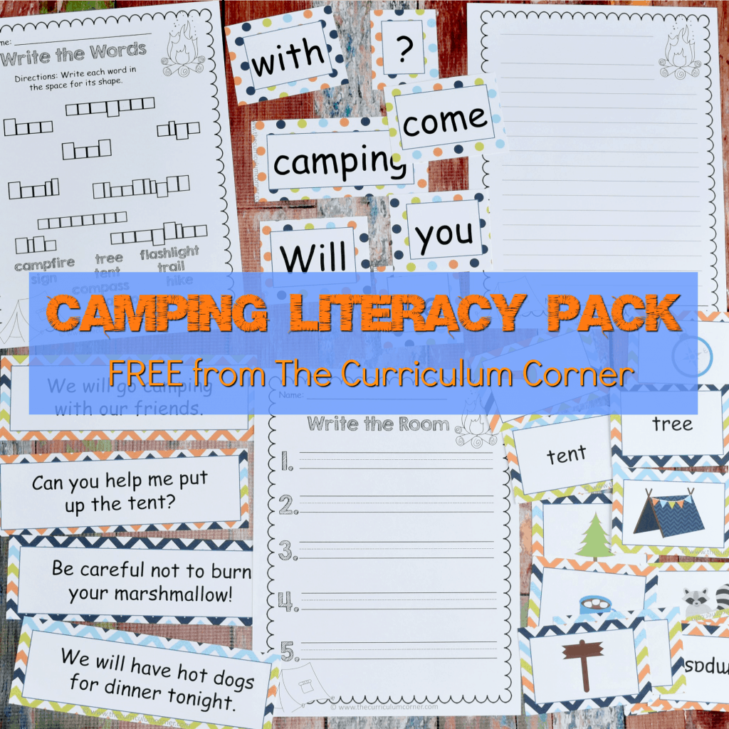Camping Classroom Theme | FREE Camping Literacy Pack from The Curriculum Corner 4