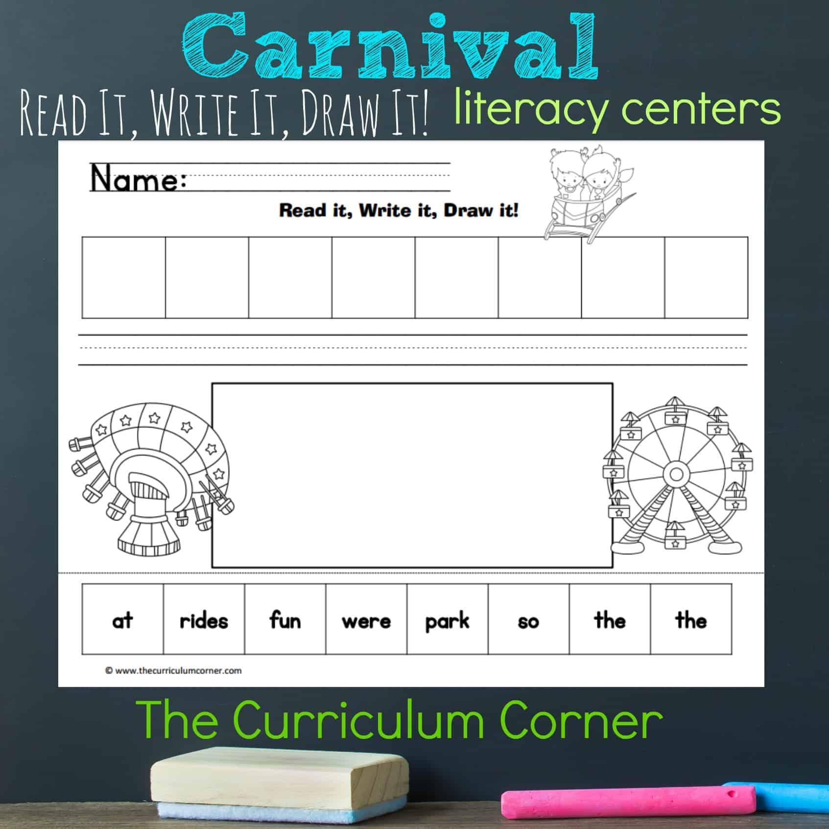 Carnival Read, Write & Draw
