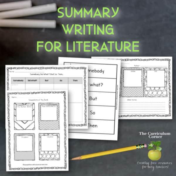 Fiction Summary Writing
