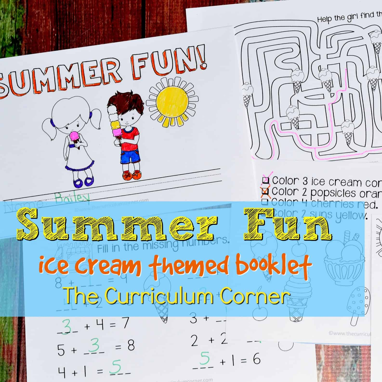Summer Fun Ice Cream Book
