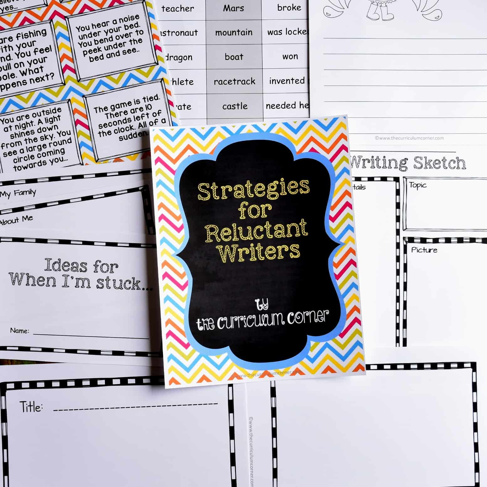 Resources to Help Reluctant Writers
