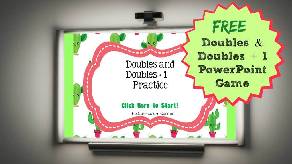 FREE Doubles and Doubles + 1 PowerPoint Game   Doubles Facts   The Curriculum Corner