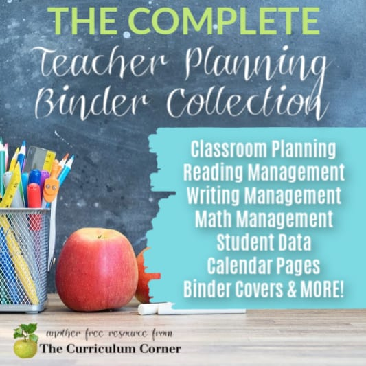Download our complete, free binder collection for teachers - planning, reading workshop, writing workshop, math, data tracking & more!