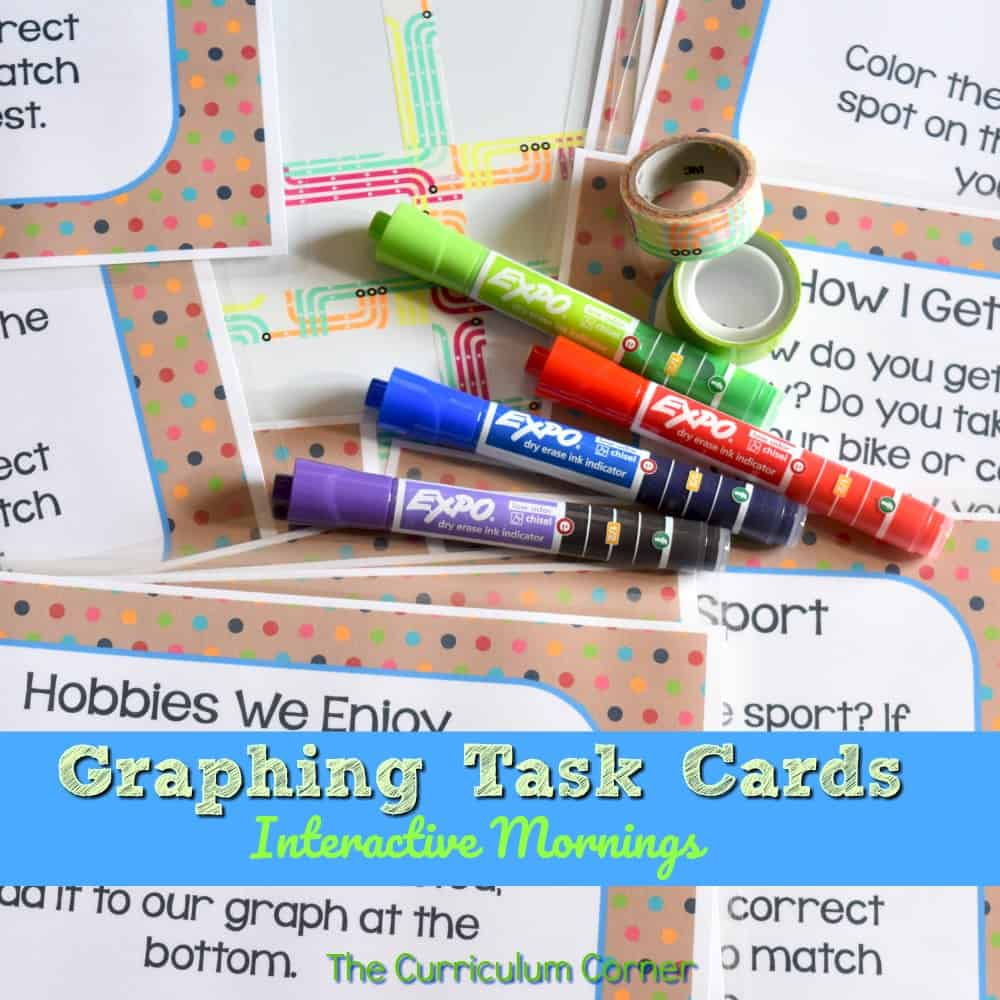 Interactive Mornings – Graphing Task Cards
