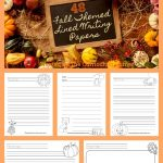 FREE Fall Lined Papers for Writing Workshop from The Curriculum Corner