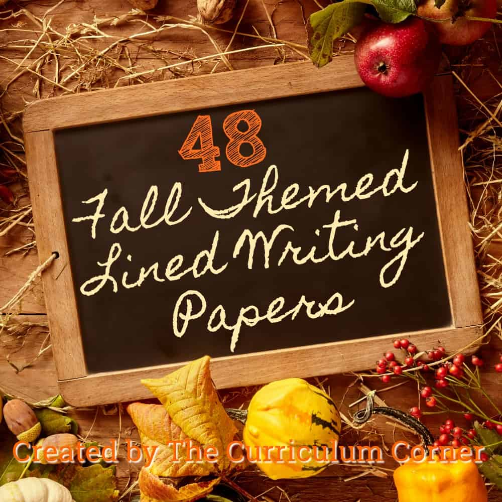 fall lined writing papers