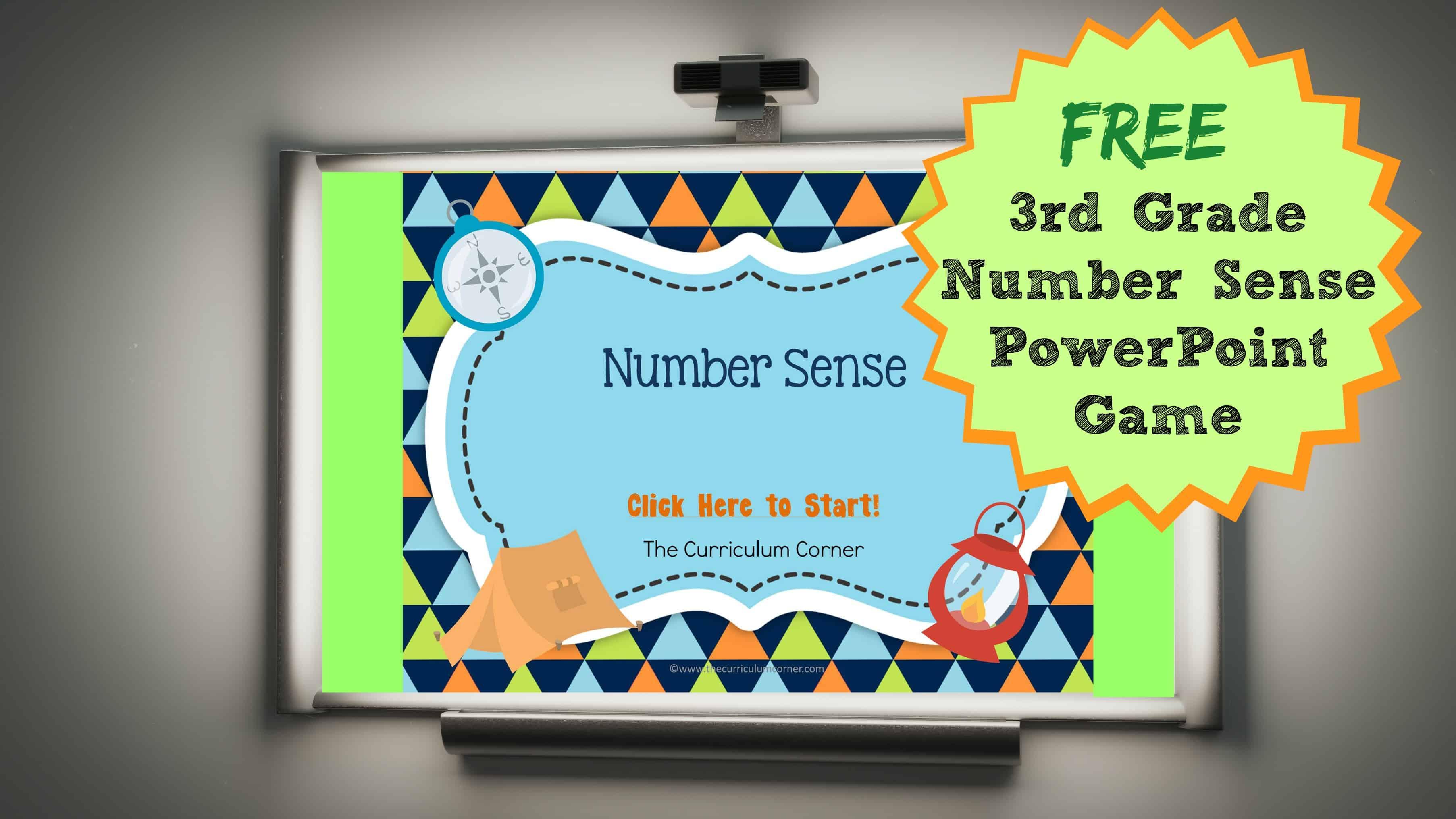 3rd Grade Number Sense PowerPoint Game