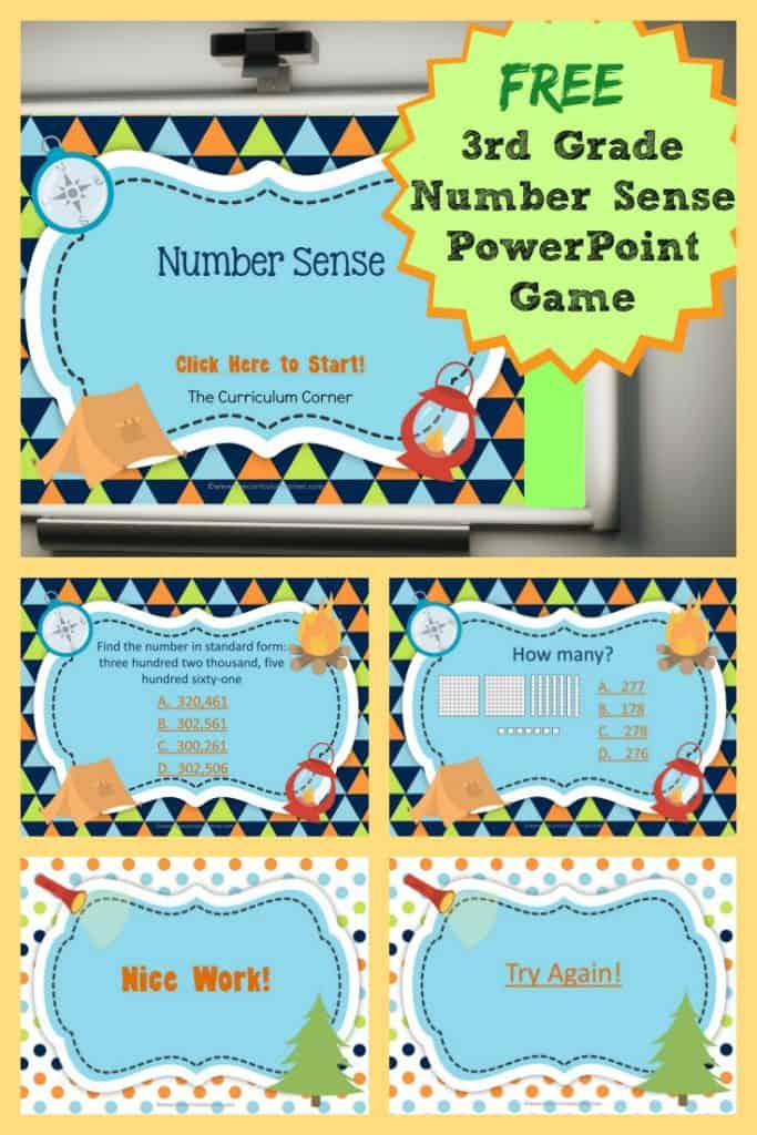 3rd Grade Number Sense Powerpoint Game The Curriculum Corner 123