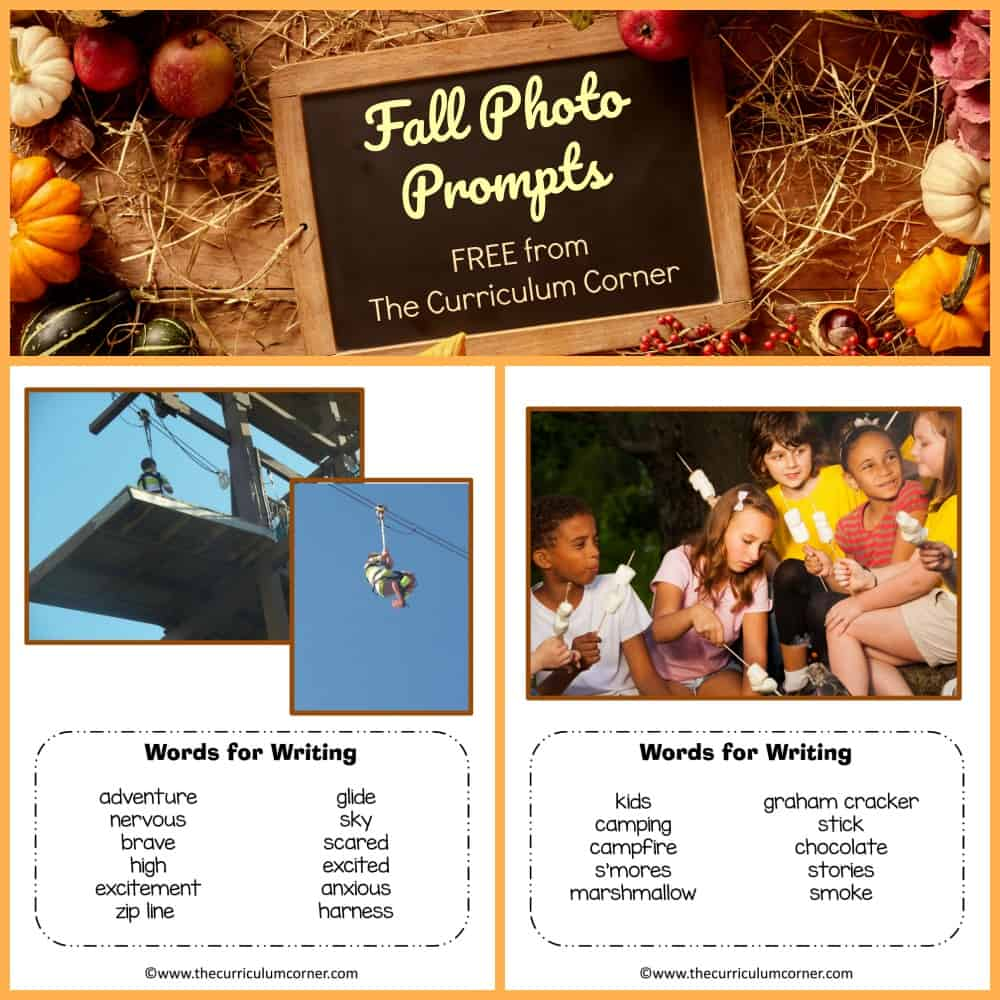 Fall Writing Picture Prompts