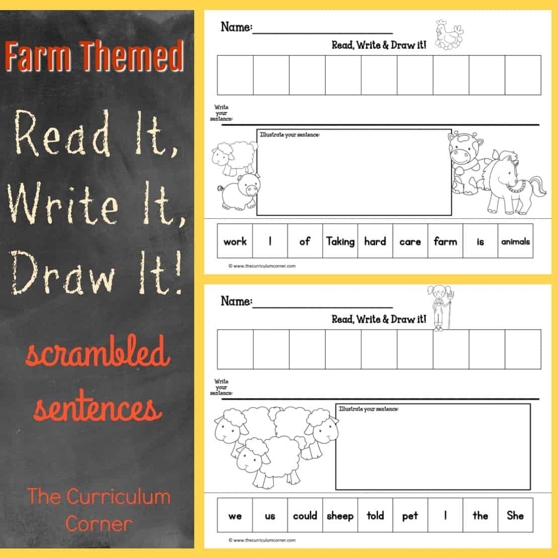 On the Farm Read, Write & Draw It!