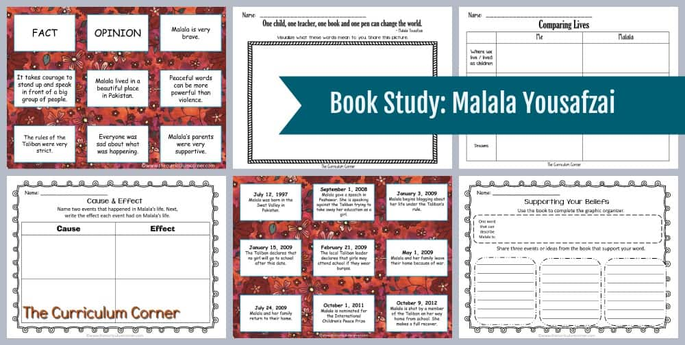Book Study: Malala Yousafzai FREE from The Curriculum Corner 7