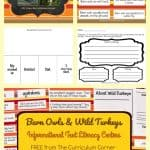 FREE Owls & Turkeys Informational Text Literacy Centers from The Curriculum Corner 8