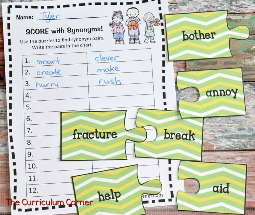 FREE Sports Math & Literacy Centers from The Curriculum Corner 4