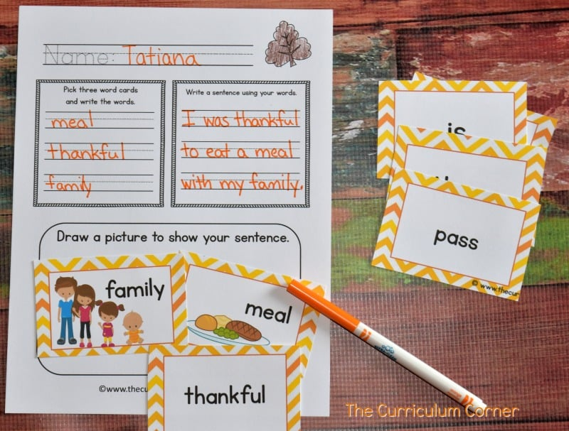 FREE Fall Writing Interventions from The Curriculum Corner 7