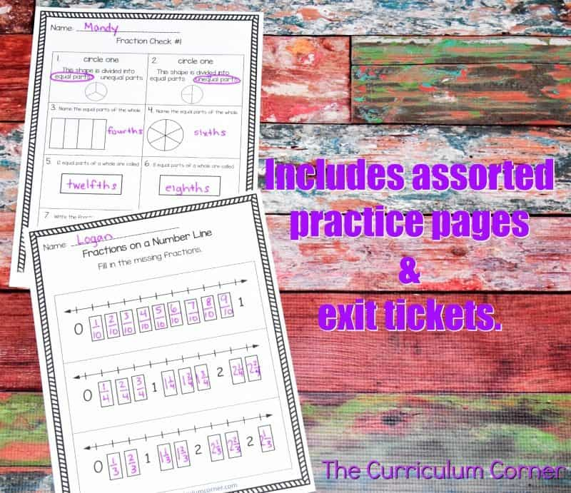 Understanding Fractions FREE from The Curriculum Corner   practice pages, assessments,exit tickets, instructional powerpoint