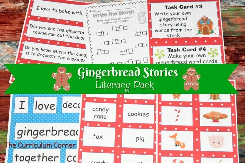This gingerbread literacy centers collection is the perfect set of gingerbread word work for December! FREE from The Curriculum Corner