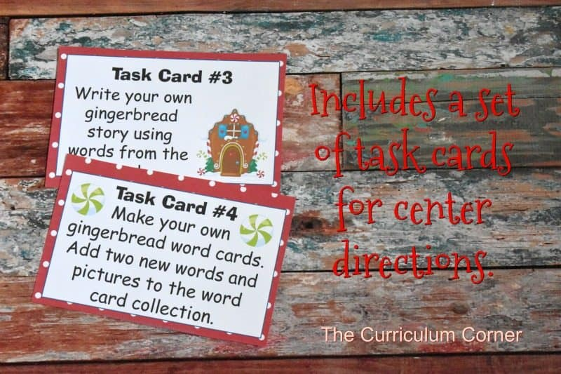 FREE Gingerbread Literacy Centers from The Curriculum Corner 4