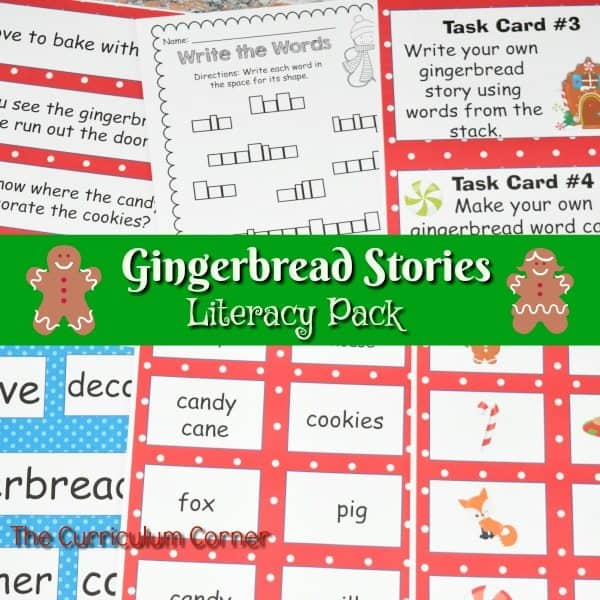 Gingerbread Literacy Pack
