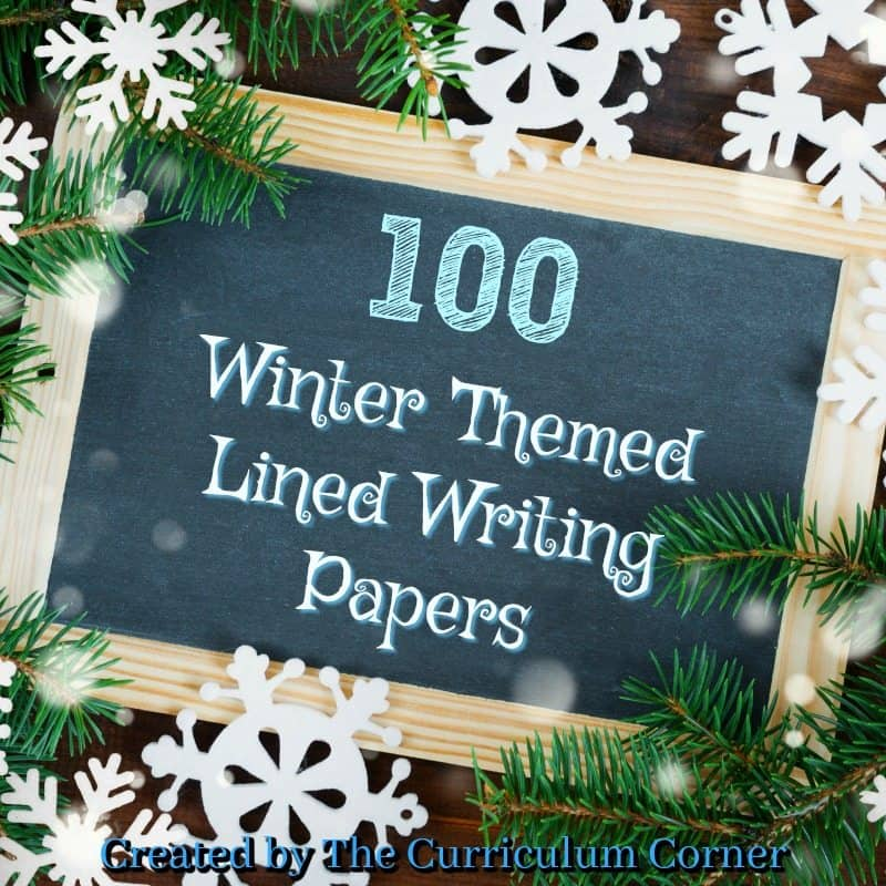 Winter Lined Writing Papers