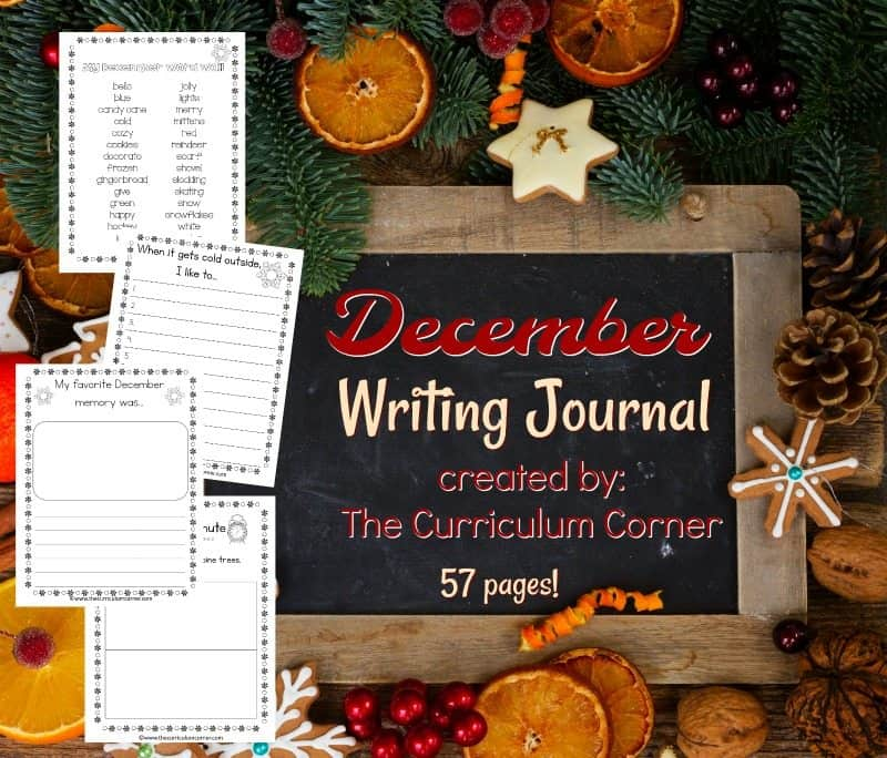 This December journal is designed for your primary classroom. Use the pages to create journals or for December writing prompts.