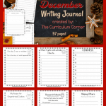 FREE December Writing Journal from The Curriculum Corner 3