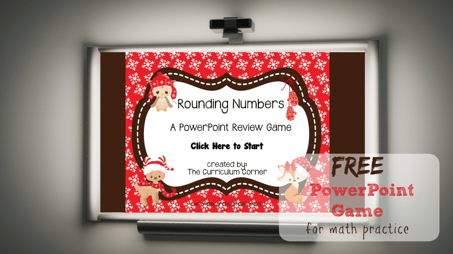 This free PowerPoint game is designed to give your students practice with a rounding numbers game in a winter animal theme.